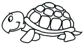 Perma Stempel Holzstempel - Schildkröte (Design 2)