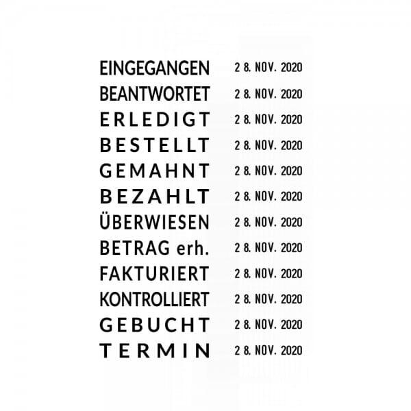 Trodat Professional Datumstempel 5117 mit Wortband Deutsch