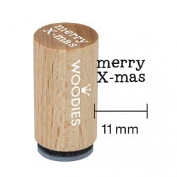 Mini Woodies Stempel - Merry X-mas