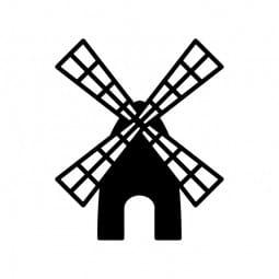 Stemplino Ministempel Windmühle