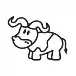 Stemplino Ministempel Bodo Büffel