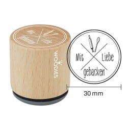 Woodies Stempel - Mit Liebe gebacken