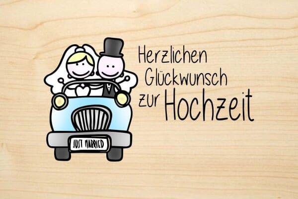 Holzgrusskarte Hochzeit Herzlichen Gluckwunsch Zur Hochzeit