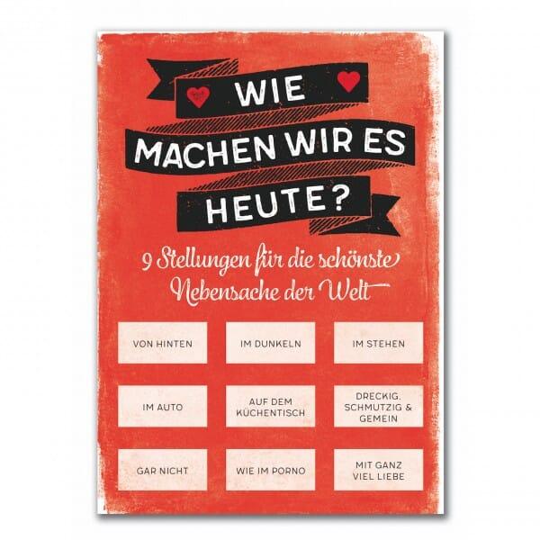 Rubbel-Postkarte - Wie machen wir es heute ?