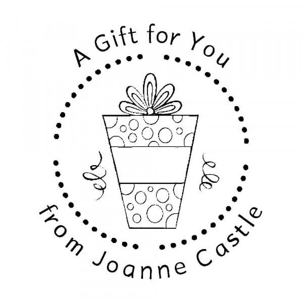 Monogrammstempel rund - Ein Geschenk für dich !