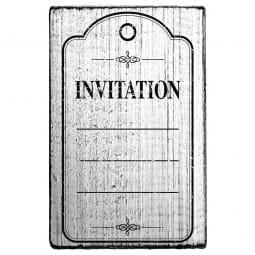 Vintage Stamp Invitation (Rahmen)