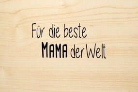 Holzgrusskarte - Sonstige - Für die beste Mama der Welt