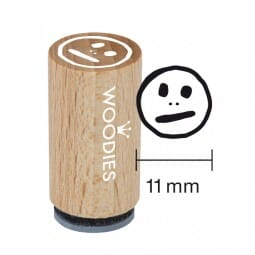 Mini Woodies Stempel - Smiley MITTEL
