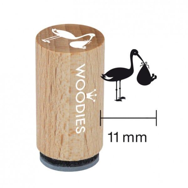 Mini Woodies Stempel - Motiv Storch